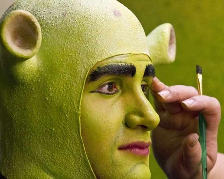 GOING OGRE – Actor Steven Angove is transformed into the character Shrek during a run-through at the Arden Theatre, where the St. Albert Children's Theatre is preparing to mount Shrek, the Musical.