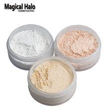 Halo mágico Maquillaje Imprimación Suelta Polvo con Hojaldre Powder Poudre Libre-control de Aceite Polvo de Acabado Mate de Plátano polvo(China (Mainland))