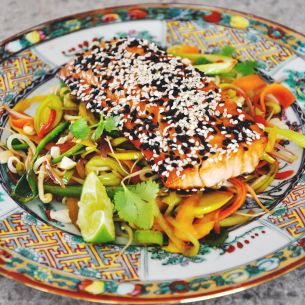 Teriakilax med lättwookad sallad - Recept från Mitt kök - Mitt Kök