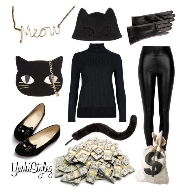 """Cat Burglar Halloween Costume"" by yashistylez on Polyvore featuring Silver Spoon Attire, Skinnydip, River Island, Dot & Bo, GRANDOE and Accessorize"