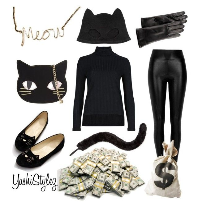 """Cat Burglar Halloween Costume"" by yashistylez on Polyvore featuring Silver Spoon Attire, Skinnydip, River Island, Dot & Bo, GRANDOE and Accessorize"