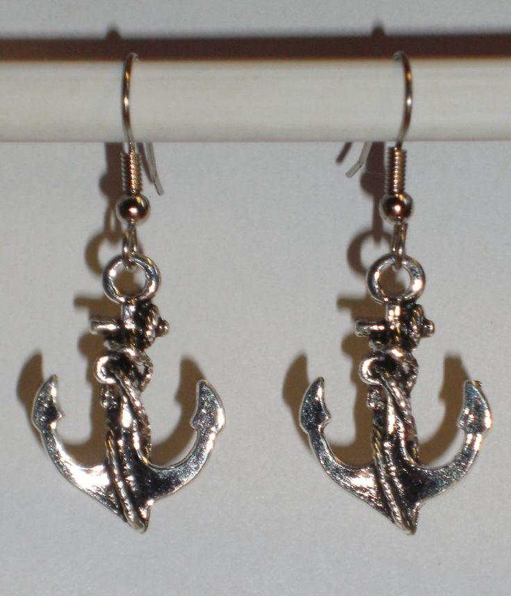 Ohrringe Anker Damen Ohrschmuck Modeschmuck ohne Stein Metalllegierung Maritim