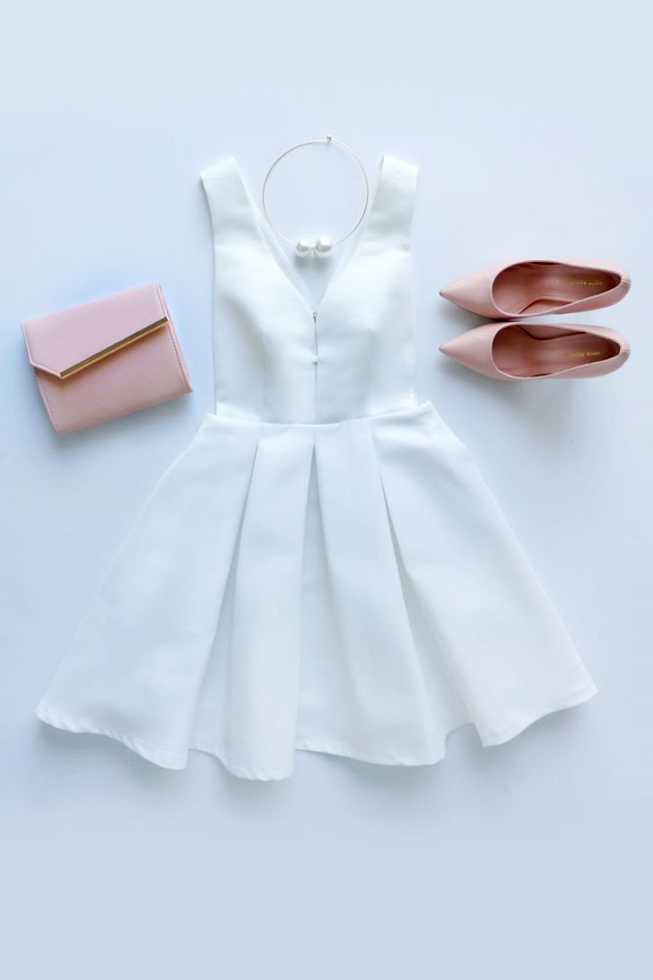 Hopes and Dreams Ivory Skater Dress