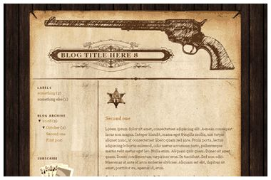 Free Blogger XML Template - Wild West Theme