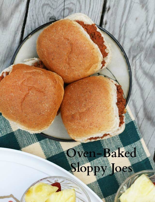 Oven-baked Sloppy Joes. The only way I make them!