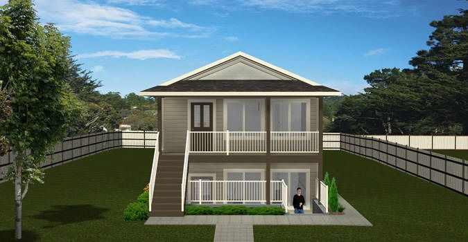 plan 2012671 narrow lot up down duplex by