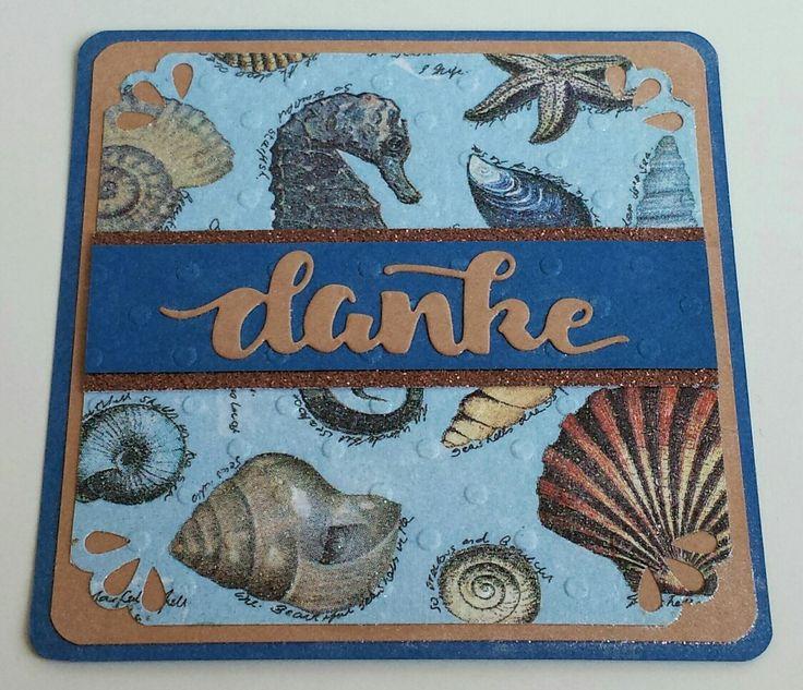 Maritim, Danke, Create a smile stamps, Diecutting, Thank you, Napkins, Serviettentechnik