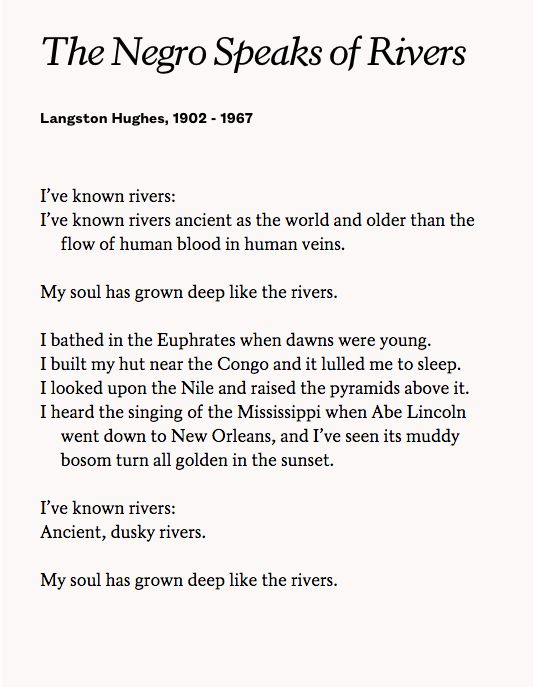 "langston hughes the art of words Langston hughes was a leader of the harlem renaissance of the 1920s he was educated at columbia university and lincoln university while a student at lincoln, he published his first book of poetry, the weary blues (1926), as well as his landmark essay, seen by many as a cornerstone document articulation of the harlem renaissance, ""the negro artist and the racial mountain."