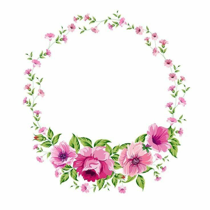 Pin De Cristina Fuentes Em Casamento Bordas Para Fotos Moldura Floral Molduras