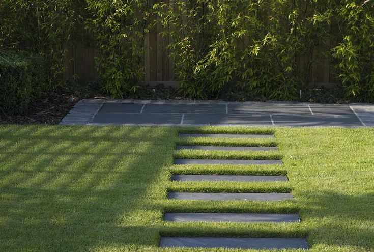 Natural black slate garden path
