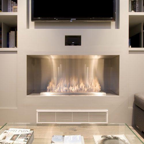 Ecosmart Fire Firebox 1200SS Modern Ventless Fireplace Insert | Stardust Modern Design