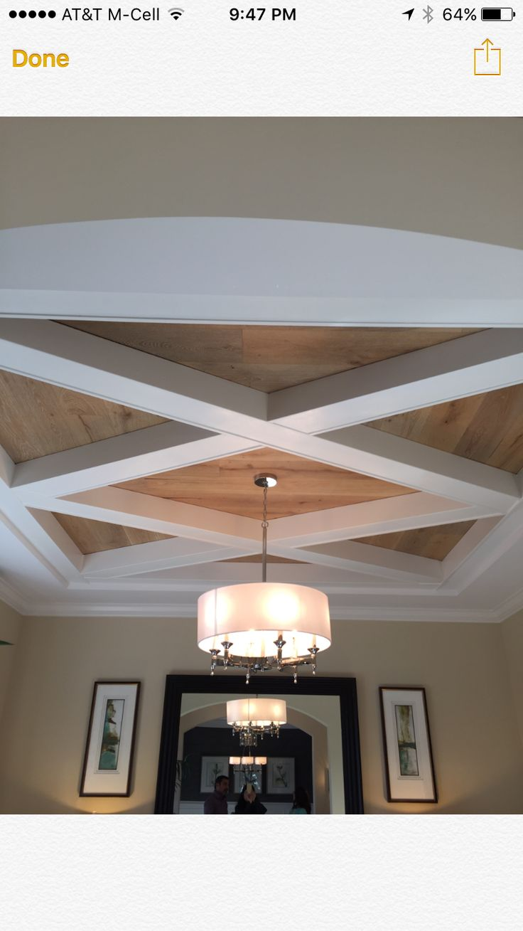 Wood and painted custom coffered ceiling detail Wood and ...