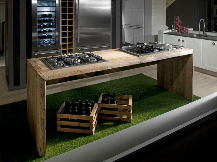 Elément de cuisine en frêne sur mesure ONE WORK STATION Collection Living by L'Ottocento