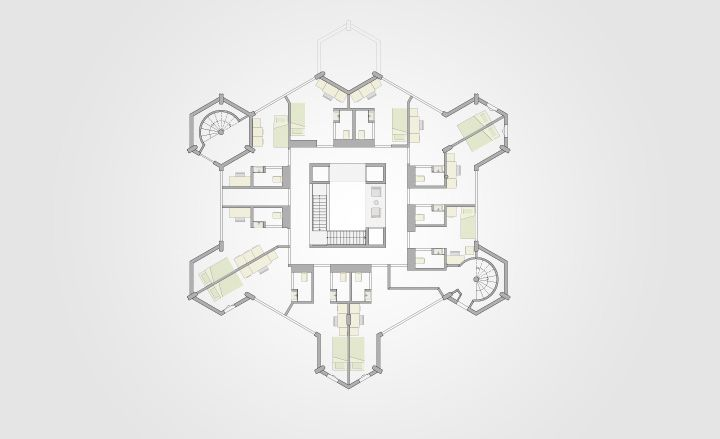 Cube house rotterdam floor plan house interior Cube house plans