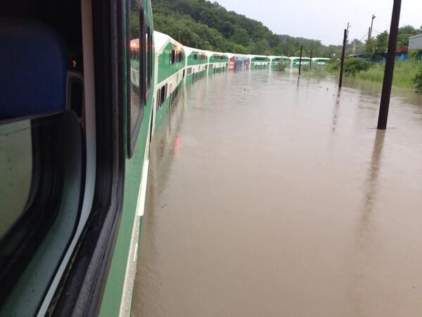 Trains in Toronto after the floods July 2013 Posted by floodlist.com