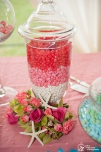 Pink Jellybeans for wedding sweets table