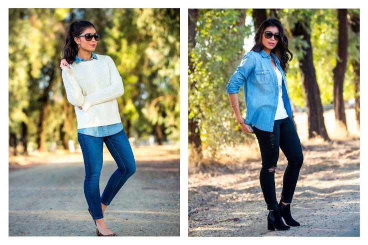 Fall Styling: How to Wear a Denim Shirt & Denim Shirt Outfit Ideas
