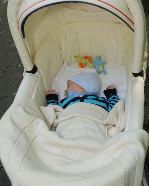 *Als kuschelige Babydecke für unterwegs, Sonnenverdeck für ...