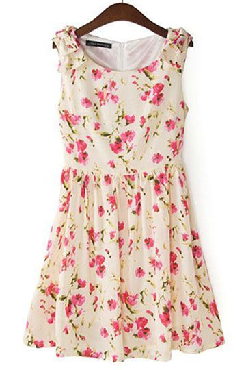 Fashioned Silm Flower Print Dress