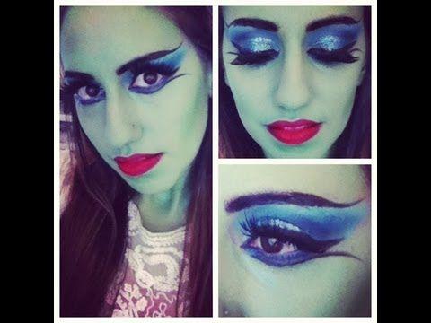 Halloween Lily Munster or Monster Makeup tutorial