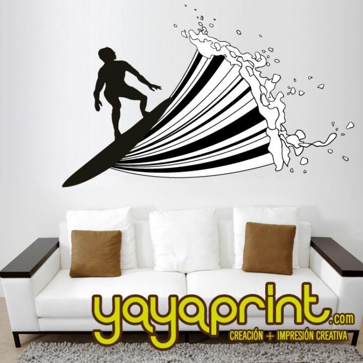 8 best vinilos surf wall vinyls decoraci n images on - Vinilos adhesivos madrid ...