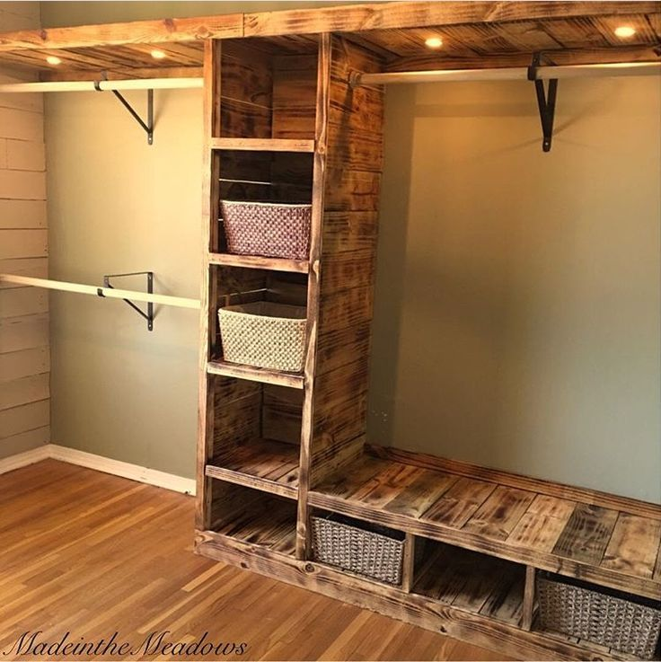 25 best ideas about pallet closet on pinterest pallet for Adding a walk in closet