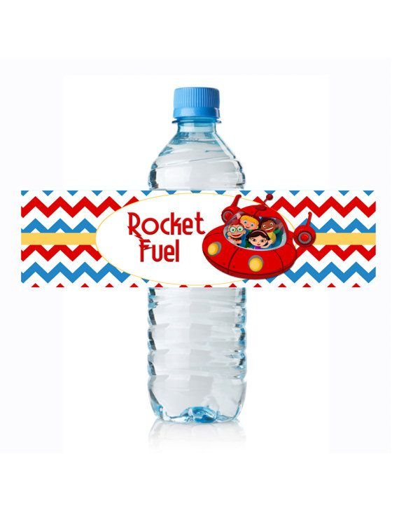 Little Einsteins Rocket Fuel Water Bottle Wraps by anas129 on Etsy Pefect touch to a little Einsteins themed party! #LittleEinsteins #LittleEinsteinsTheme #Disney
