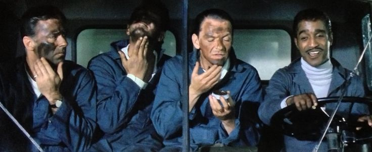 Jimmy Foster (Peter Lawford), Sam Harmon (Dean Martin) , Josh Howard (Sammy Davis Jr.) and Danny Ocean (Frank Sinatra) Oceans 11(1960)
