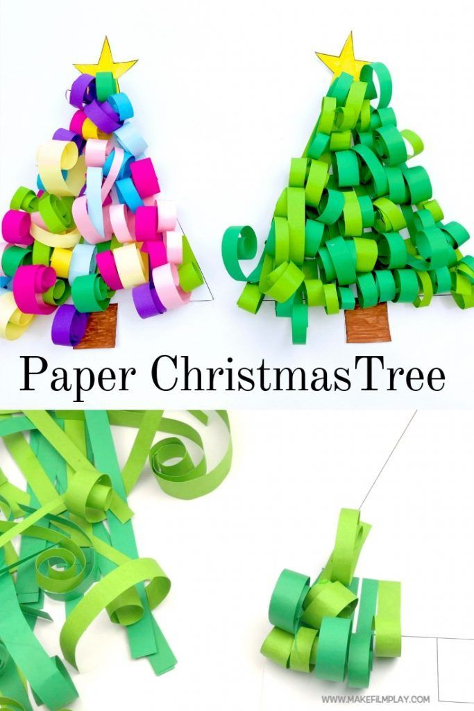 Christmas Crafts Make This Sweet Paper Christmas Tree For Your Next Christmas Craft Pinterest Christmas Crafts Paper Christmas Tree Christmas Craft Projects