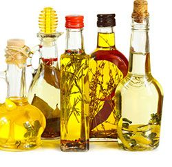 Flavored vinegars and oils lend new flavors for salads and sauces. Click for recipes from Colorado State Extension.