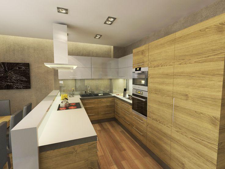 Látványterv konyha / Architectural visualization kitchen