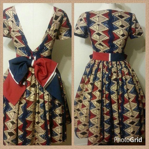 Stella Dutch Hollandais African print dress by LiLiCreations
