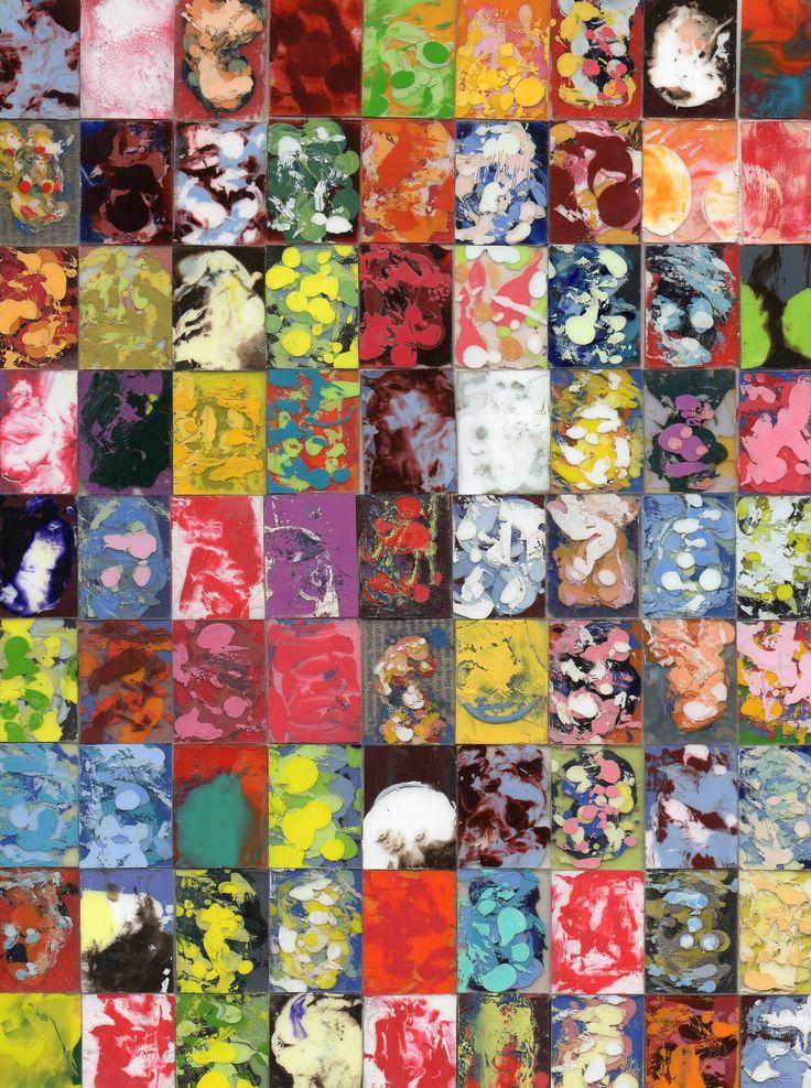 "Daniel Callori ""Untitled"" (Oil on glass 2 x 2,5 each panel). @riccilastiri Be Smart By Art"