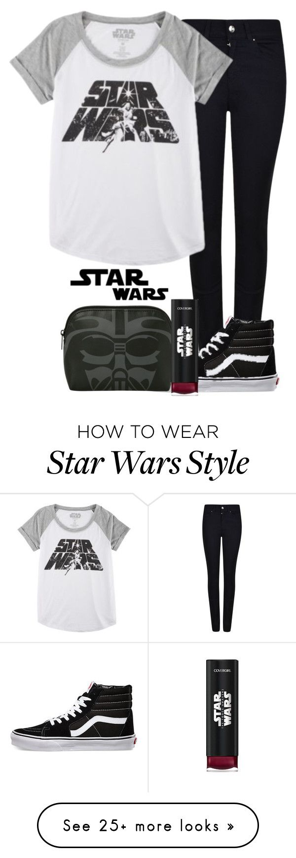 """""""Star Wars Contest."""" by teenagedreamsmile on Polyvore featuring Giorgio Armani, Hybrid and Vans"""
