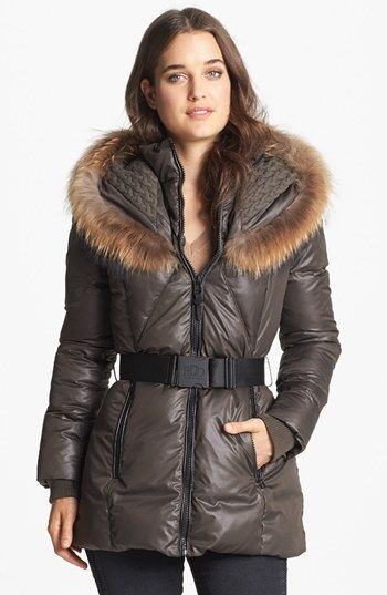 BDay present? Perhaps.... Rud by Rudsak 'Jordana' Genuine Coyote Fur & Cable Knit Trim Parka available at #Nordstrom