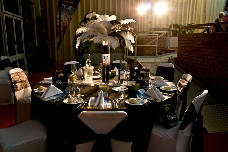Awards Presentation - Black & White - by Toowoomba White Wedding and Event Hire - Weddings, Corporate Functions, Parties, Gala Events {Toowoomba & Surrounding Areas}
