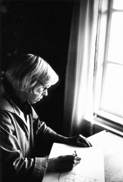 Portrait of Tove Jansson by Per Olov Jansson