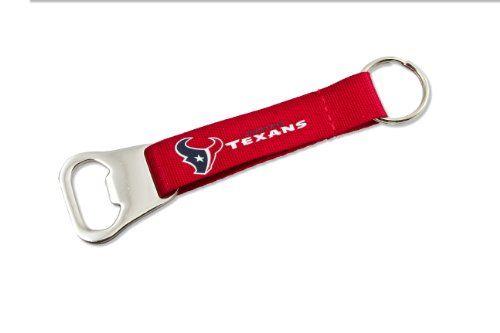 NFL Houston Texans Bottle Opener Lanyard Key Ring  http://allstarsportsfan.com/product/nfl-bottle-opener-key-ring/?attribute_pa_teamname=houston-texans  Bottle opener on a lanyard keychain Team colored lanyard Officially licensed