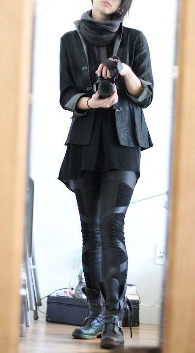 goth ninja fashion for women - Google Search                                                                                                                                                                                 More