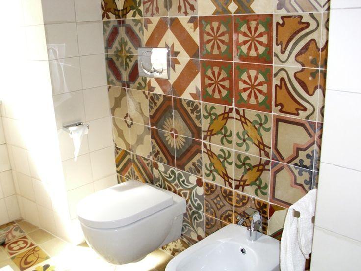 Cementine bagno ambienti cerca con google bathroom - Bagno con cementine ...