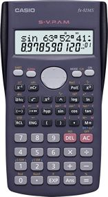 The arguably most common calculator in Kenyan high schools. AA-size battery 240 Functions / Dot Matrix / 2-Line Display / 10+2 Digits / Plastic Keys    • Multi-replay function • 2-line display • Fraction calculations • Combination and Permutation • Statistics (STAT-data editor, Standard deviation, Regression analysis) • 9 variable memories • Plastic keys • Comes with slide-on hard case