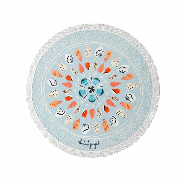 top3 by design - The Beach People - round towel seashells petite