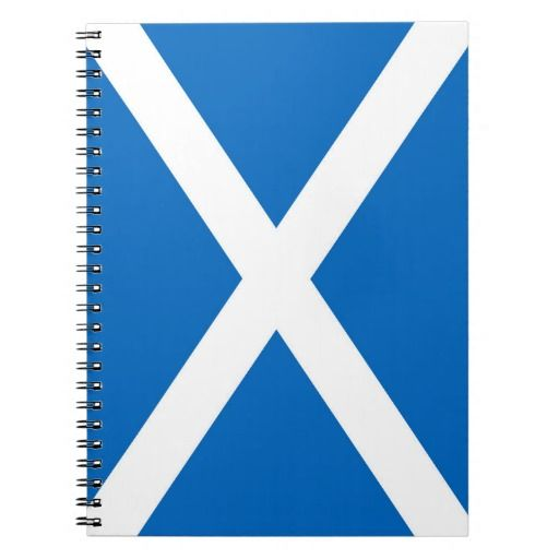 Scotland flag notebook