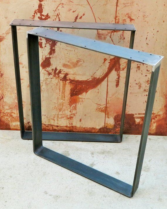 Metal Table Legs Flat Bar Squared - How To Clean Rusty Metal Table Legs
