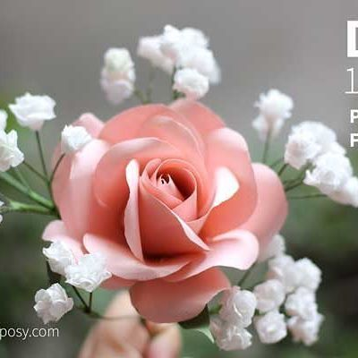 DIY paper baby breath, so simple, so realistic. Tutorial at dreamyposy.com. #paperflowers #paperflower #papercraft #paperdecor