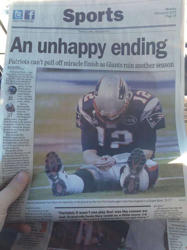 andd the Pats lose the Super Bowl..AGAIN! hhahaha Cryyyyyyyy