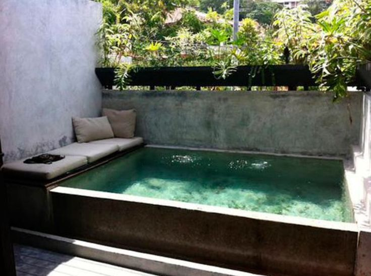 44 best pools images on Pinterest Small swimming pools, Mini - pool im garten holz
