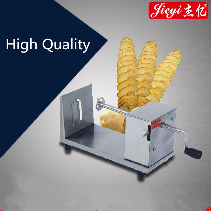 Manual Stainless Steel Potato Slicing Machine Commercial Tornado Spiral Potato Chips Cutter #Affiliate