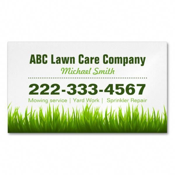 Lawn Care Landscaping Services Green Grass Style Business Card Magnet Businesscards Magnets Business Cards Landsc Lawn Care Business Lawn Care Lawn Care Companies