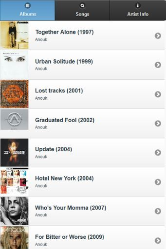You are looking for Anouk lyrics? <br>This app has ALL. If you can't find one, please let us know and we'll add it immediately. <br>Simply this is a must-have app for Anouk fans, and better thing is it's FREE for you.<br>You can search lyrics easily by albums (sorted chronologically), or by song title (sorted alphabetically).<br>Anouk All Lyrics main features:<br>- Browse lyrics by album<br>- Search for lyrics by song title<br>- Useful information <br>+ Official website<br>+ Official…